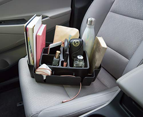 Rubbermaid Automotive Portable Tote Bin Organizer: Passenger Seat/Car Cargo Area Storage Caddy with Leakproof Bottom, Large