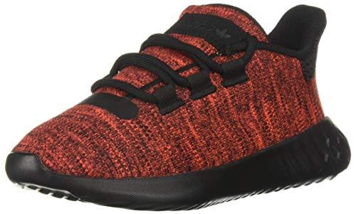 adidas Originals Unisex-Kid's Tubular Dusk Running Shoe, Active red/Black/Active red, 13.5K M US Little Kid