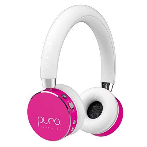 Puro Sound Labs BT2200s Volume Limited Kids' Bluetooth Headphones – Safer Headphones for Kids – Studio-Grade Audio Quality & Noise Isolation- Hot Pink
