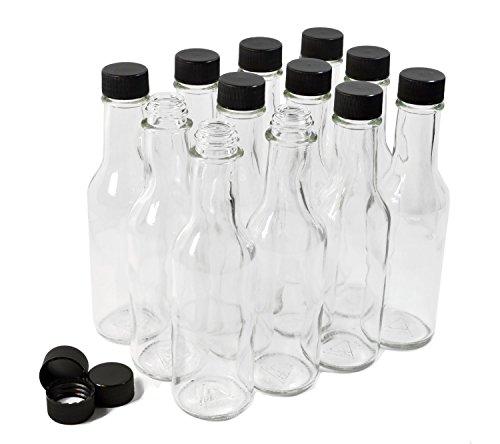 Clear Glass Woozy Bottles, 5 Oz - Case of 12