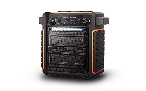 ION Audio Raptor   Ultra-Portable 100-Watt Wireless Water-Resistant Speaker with 75-Hour Rechargeable Battery, Bluetooth Streaming, AM/FM Radio and Multi-Color Light Bar