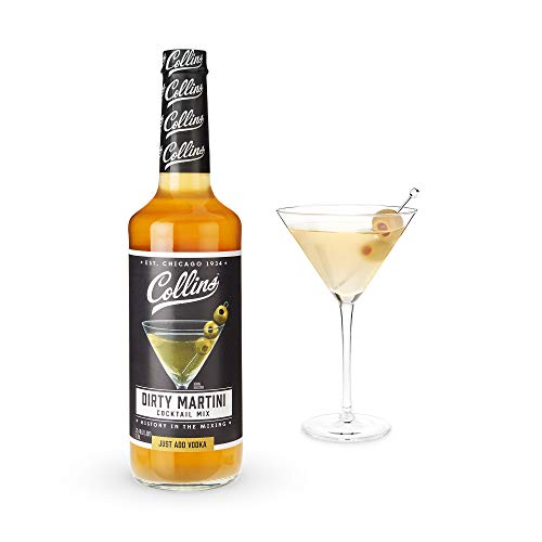 Collins Consumables Collins Dirty Martini Mix   Made With Real Olive Brine for the Bold Flavor You Need   Classic Cocktail Recipe Ingredient, Dirty Martini,25.4 Fl Oz