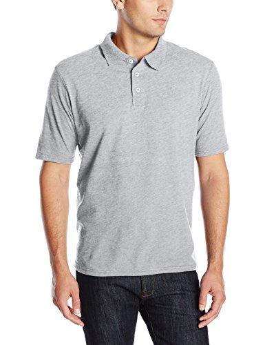 Hanes mens X-Temp Performance Polo Shirt,Light Steel,XX-Large