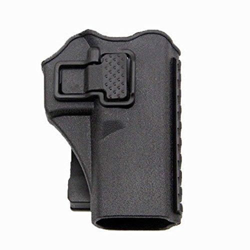 quanlei Tactical Right Hand Waist Gun Holster,MOLLE Vest Pistol Holster for Glock 17 19 22 23 31 (Black, Vest)