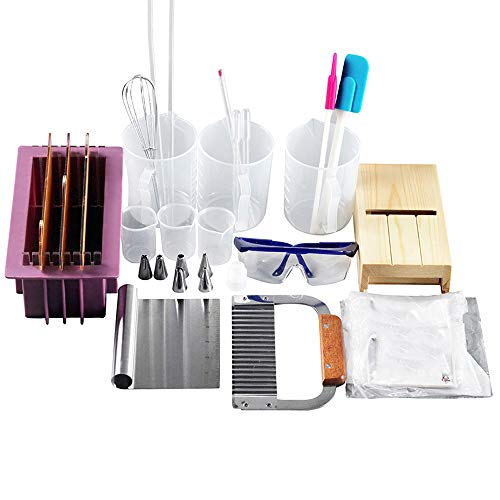 Render Soap Making Kit DIY Handmade Soap Silicone Mold Cold Process Soaps Making Tools