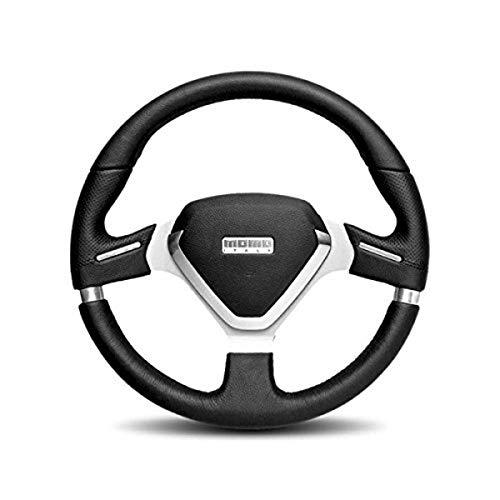 MOMO MEVO35BK1P Millenium Evo 350 mm Leather Steering Wheel