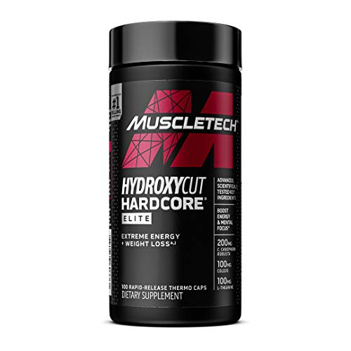 Hydroxycut Hardcore Elite Weight Loss Supplement, Designed for Hardcore Weight Loss, Energy & Enhanced Focus, 50 Servings (100 Pills)(Packaging May Vary)