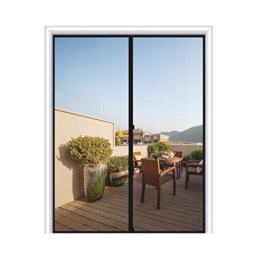 MAGZO Magnetic Screen Door Fit Door Size 72 x 80, Fiberglass French Door Mesh Curtain with Heavy Duty-Grey