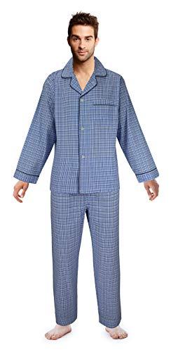 Casual Trends Men's Pajama Set Broadcloth Pajamas for Men, Medium