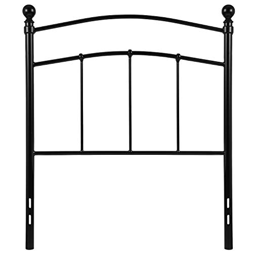 My Friendly Office MFO Stanford Collection Decorative Black Metal Twin Size Headboard