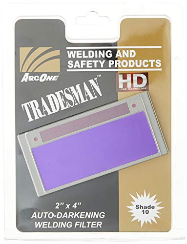 ArcOne T240-10 Tradesman Horizontal Auto-Darkening Filter for Welding Helmets, 2 x 4.25 x 0.2'