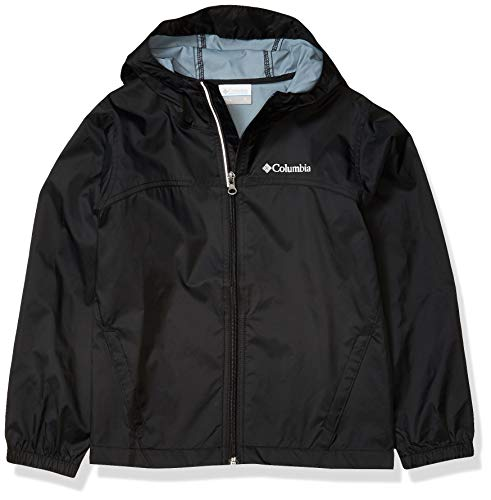 Columbia Boys Glennaker Rain Jacket, Waterproof & Breathable, BLACK, Medium