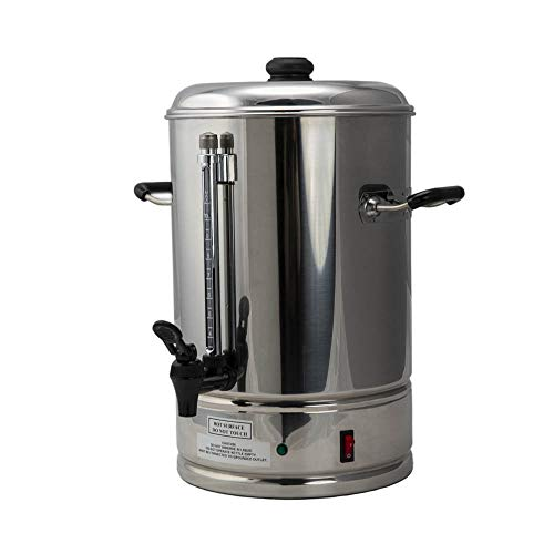 SYBO CP10 Commercial Grade Stainless Steel Percolate Coffee Maker Hot Water Urn for Catering, 10-Liters, Metallic