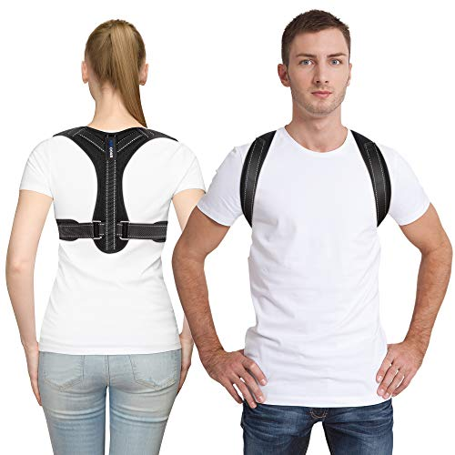 Posture Corrector for Women and Men   Chafe Free Upper Back and Clavicle Support   Back Brace Anti Slouch Device   Fully Adjustable