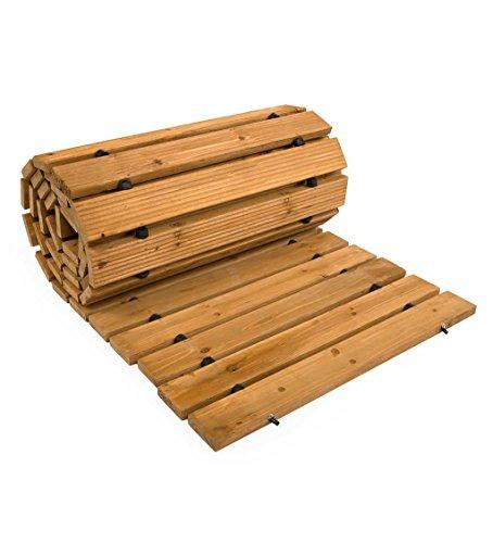 Plow & Hearth 52127 Weather-Resistant Straight Hardwood Pathway, 8'