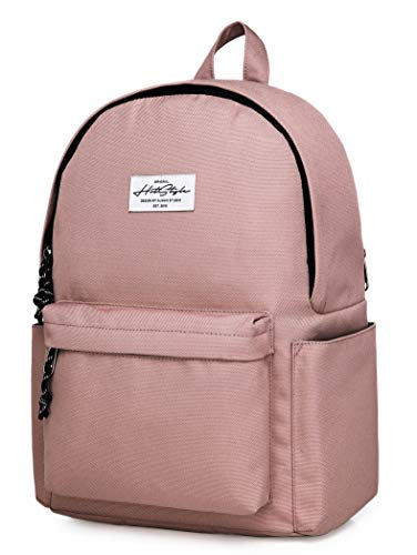 CANDER Middle School Backpack for Teen Girls & Boys: Classic, Comfort, Multi-pockets, Durable for Junior High Schooler, Dusty Pink
