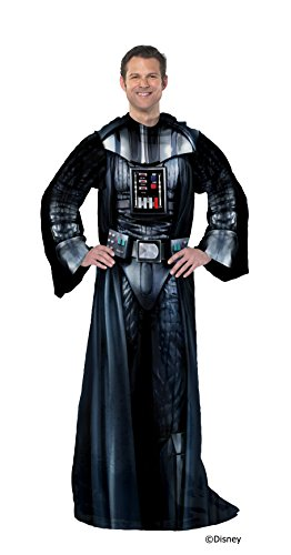 Star Wars Being Darth Vader Disney's Adult Comfy Throw Blanket with Sleeves, 48' x 71', Multi Color
