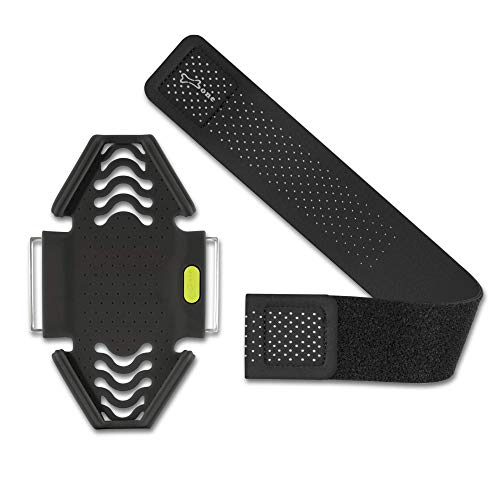 Bone Run Tie Running Armband Phone Holder, Lightweight Sports Cell Phone Arm Band for iPhone 12 11 Pro Max XS XR X 8 7 6 Plus Samsung Galaxy S10 S9 S8 Smartphone (6.3-7.5'+ 7.9-9.8'+ 9.8-14')