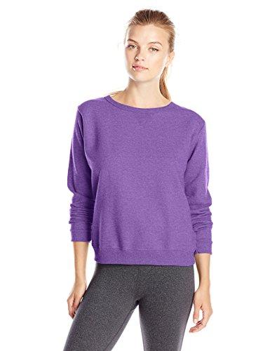 Hanes Women's V-Notch Pullover Fleece Sweatshirt, Violet Splendor Heather, XX-Large