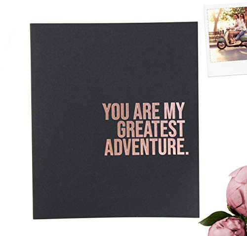 You are My Greatest Adventure Scrapbook Album for Couples. Wedding Scrapbook, Engagement Gift. Rose Gold, Scrapbook for Couples, Marriage Journal, Couples Journal Wedding Keepsake, Anniversary Gift