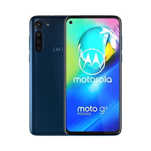 Moto G8 Power | Unlocked | International GSM only | 4/64GB | 13MP Camera | 2020 | Blue