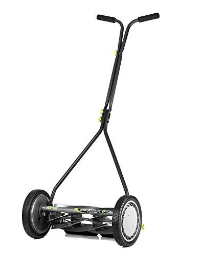 Earthwise 1715-16EW 16-Inch 7-Blade Push Reel Lawn Mower, Gray/Silver/Green