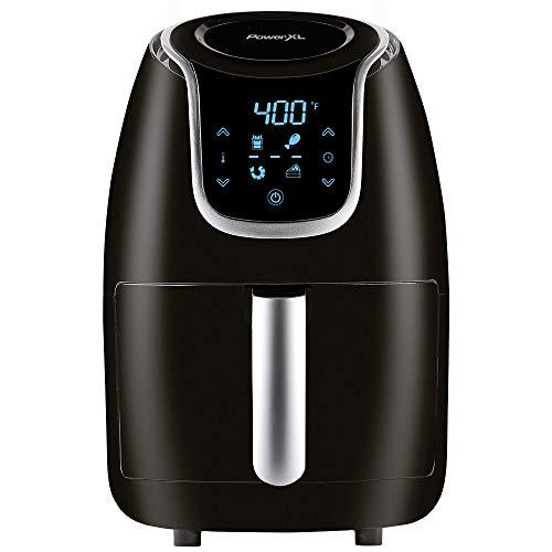 PowerXL Air Fryer Vortex - Multi Cooker with Roast, Bake, Reheat Non Stick Coated Basket, Cookbook (2 QT, Black)