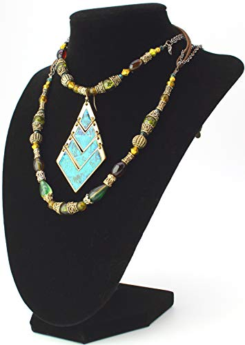 Tytroy 9' 3D Black Velvet Necklace Display Chain Jewelry Model Bust Stand