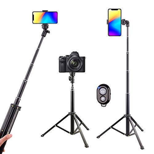Selfie Stick Tripod Bluetooth, LATZZ 54 Inch Phone Tripod Selfie, Extendable iPhone Stand Tripod with Wireless Remote Shutter Compatible iPhone 11 Pro/Xs MAX/XR/X/8/8P/7/Galaxy Note 8/S10/S9+/S9, More