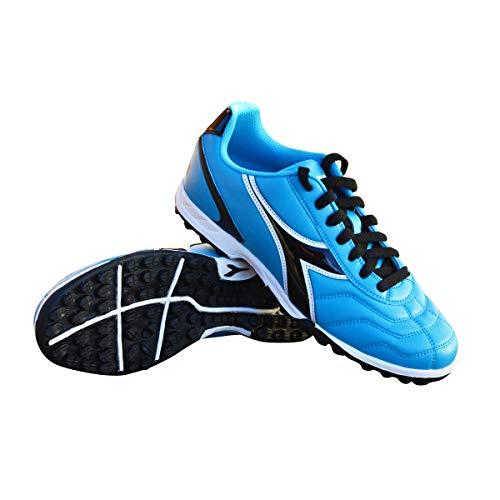 Diadora Women's Capitano TF Turf Soccer Shoes (7.5 Wide, Columbia Blue/Black)