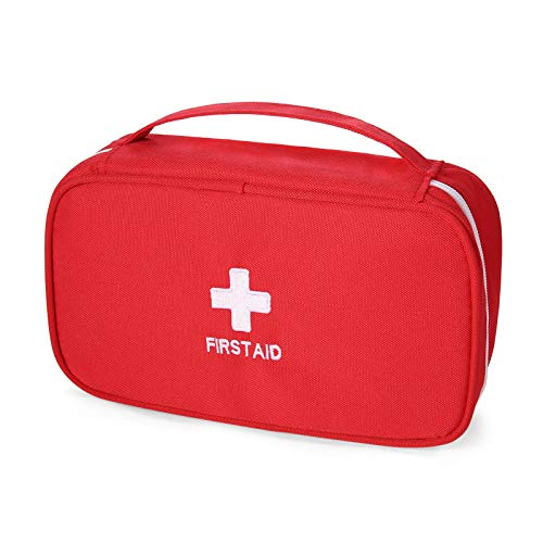 Ellsang First Aid Bag for Home Outdoor Travel Camping, Hiking, Backpacking, Travel, Vehicle(Empty Medical Bag) (Red) …