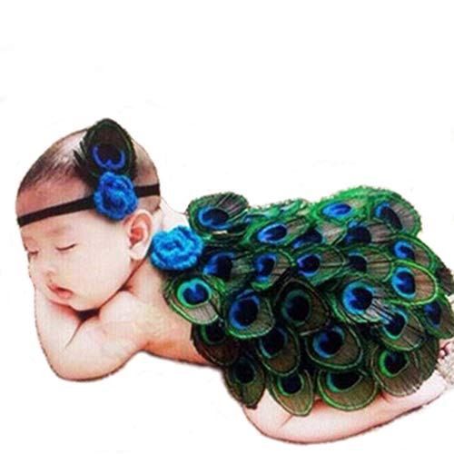 Swovo Baby Peacock Costume Baby Outfits Cute Baby Photography Props with Headband