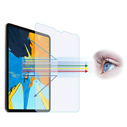 Entwth Anti Blue Light Tempered Glass Screen Protector[2 Pack] for iPad Air 10.9'(4th 2020) & iPad Pro 11-inch(2nd Gen 2020/ 1st Gen 2018)[Eye Care,Relieve Eye Fatigue]Blocks Excessive Harmful Blue Light & UV 9H Anti-Scratches