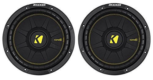 2) KICKER 44CWCD104 CompC 10' 1000w Dual 4-Ohm Car Audio Subwoofers Subs CWCD104