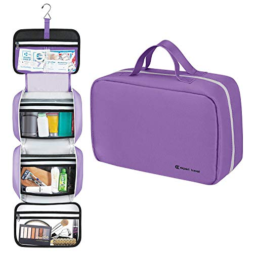 The Biggest F'n Toiletry Bag On Amazon (42'x14') | For Men and Women | Hanging Style | Leak Proof | Clear Pockets | Detachable Compartment | Makeup Bag | Cosmetic Bag (XL Blueberry Jelly Bean)