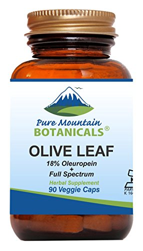 Olive Leaf Extract Capsules - 90 Kosher Vegan Caps Now with 400mg Organic Olive Leaf and Potent Extract