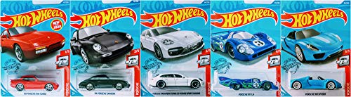 Hot Wheels 2020 Complete Porsche 5 Car Bundle Set Version 1 Includes 917 LH Panamera SE Hybrid Carrera 944 Turbo 918 Spyder