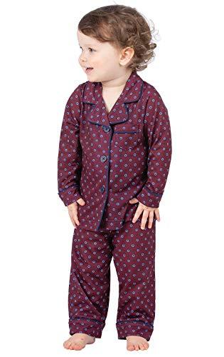 PajamaGram Kids Pajamas Classic Foulard - Pajamas Toddler, Burgundy, 5T