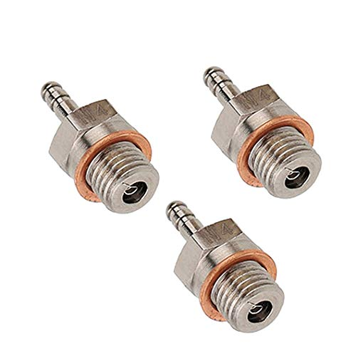 JFtech 70117 Hot Spark Glow Plug No.4 N4 Platinum/Iridium Super Glow-Plug for RC HSP Nitro Engine Car Truck Buggy (Pack of 3)