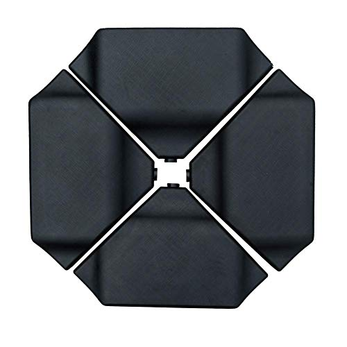 Abba Patio Cantilever Offset Umbrella Base Plate Set Heavy Duty Weights 260lbs, Pack of 4, Black (Renewed)