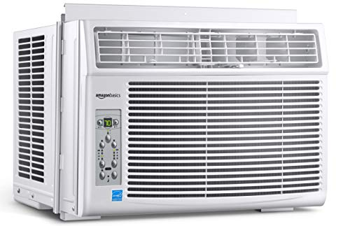 AmazonBasics Window-Mounted Air Conditioner with Remote - Cools 250 Square Feet, 6000 BTU, Energy Star, Energy Star