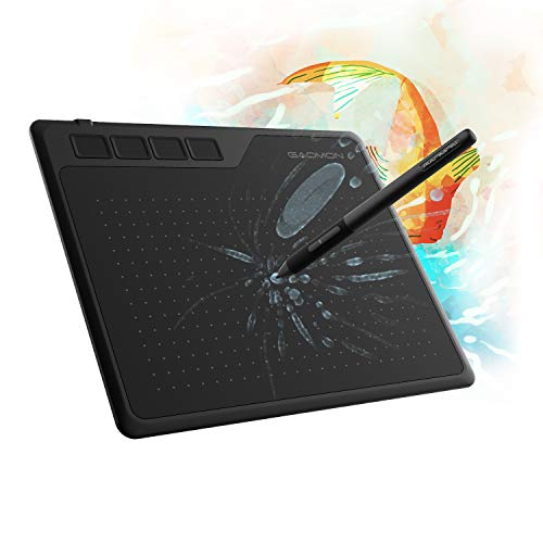 GAOMON S620 6.5 x 4 Inches Graphics Tablet with 8192 Passive Pen 4 Express Keys for Digital Drawing & OSU & Online Teaching-for Mac Windows Andorid OS
