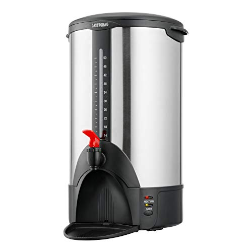 Gastrorag Premium 50 Cup Coffee Urn for Large Groups – Double Wall Stainless Steel Commercial Coffee Maker – Automatic Keep Warm, DK50