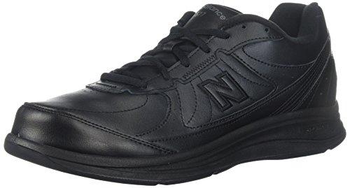 New Balance Men's 577 V1 Lace-Up Walking Shoe, Black, 10.5 XW US