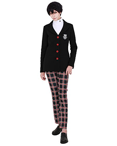 miccostumes Protagonist School Uniform Cosplay Costume (Men L) Black