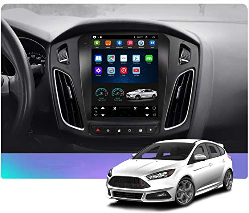 Topdisplay Android 10 Head Unit for Ford Focus 2012-2018 10.4inch Tesla Style in-Dash Radio Stereo IPS Touch Screen 2+32GB Bluetooth Steering Wheel Control WiFi GPS Navigation Free Rear camear&Canbus
