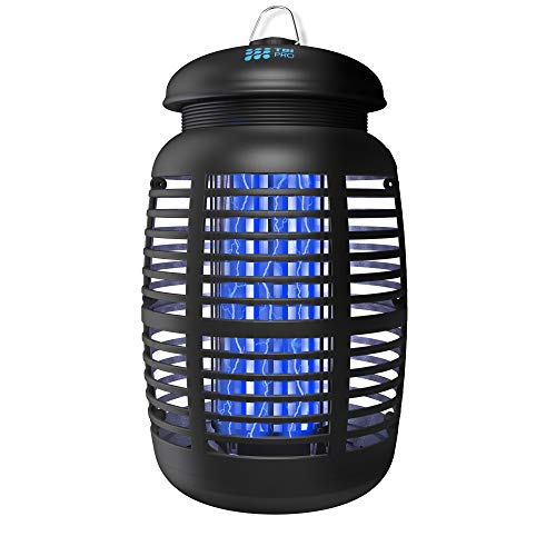 TBI Pro Bug Zapper for Outdoor & Attractant - Effective 4000V Electric Mosquito Zappers/Killer - Insect Fly Trap, Waterproof Indoor - Electronic Light Bulb Lamp for Backyard, Patio - 1 Acre, Large
