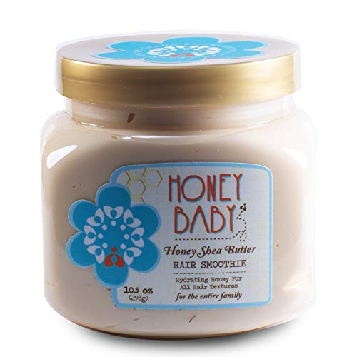 Honey Baby   Honey Shea Butter Hair Smoothie   Styling Cream for Curly Coily Textured and Wavy Hair   Sulfate and Paraben Free