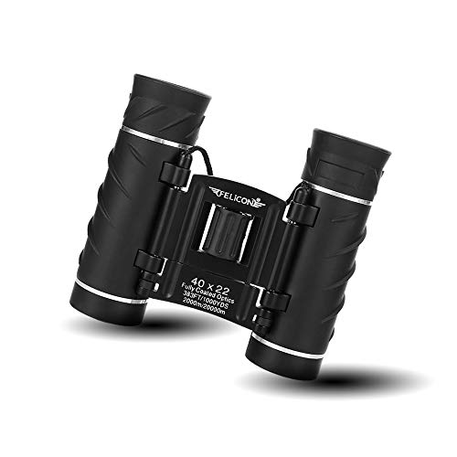 40x22 Compact Small Binoculars for Adults and Kids, Lightweight Pocket Binoculars for Bird Watching, Travel, Concerts, Sports, Camping and Hiking with Weak Light Night Vision (BAK4 Prism FMC Lens)