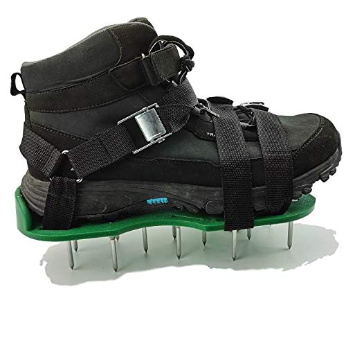 Wistar Lawn Aerator Shoes Metal Buckles and 3 Straps - Heavy Duty Spiked Sandals for Aerating Your Lawn or Yard, Universal Size That Fits All (Pre-Assembly) (No-Assembly) (No-Assembly)